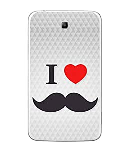 PrintVisa Designer Back Case Cover for Samsung Galaxy Tab 3 (8.0 Inches) T310 T311 T315 LTE (Love Lovely Attitude Men Man Manly)