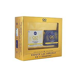 Nivea Q10 Power Día y Noche, Set de Cremas para Reducir las Arrugas en 4 Semanas, Caja de Regalo con Crema de Día con Protector Solar 15 y Crema de Noche, (2 x 50 ml)