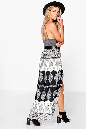 Damen Multi Omia Thigh Split Maxi Skirt Multi