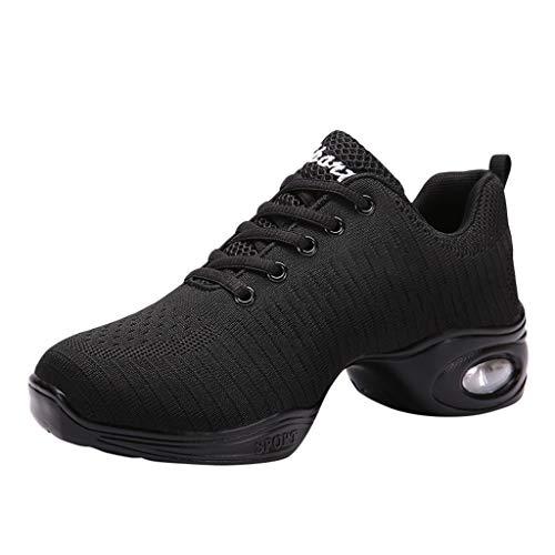 LILIGOD Tanzschuhe Damen Modern Dance Jazz Schuhe Soft Breather Tanzschuhe Sneakers Einfarbig Mode Sportschuhe Schnürschuhe Dance Schuhe Bequeme rutschfeste Schuhe Fitnessschuhe