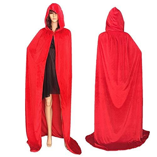 - Red Velvet Kapuzen Kostüme Mantel
