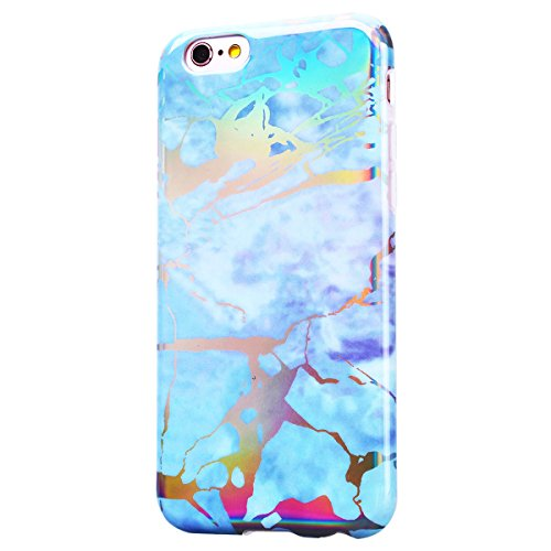 SMART LEGEND iPhone 6 Plus/iPhone 6S Plus Weiche Silikon Hülle Marmor Muster Schutzhülle Hülle Handyhülle Crystal Kirstall Clear Etui Ultra Slim Design Glatt Durchsichtig Weich TPU Handy Tasche Soft C Bunt