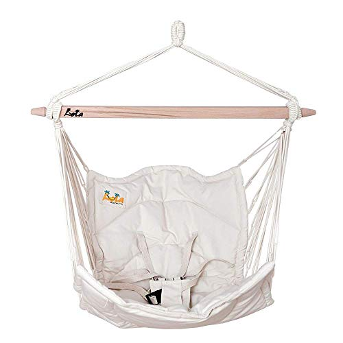 Lola Bella Chica Natur Luxus Babyhängematte Babywiege Kinderhängesessel Oeko-Tex 100