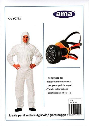 Preisvergleich Produktbild Kit Atemregler filtrante-tuta in polipropilente für Landwirtschaft und Gartenbau von AMA