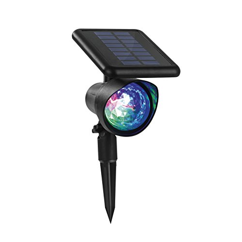 EASYmaxx 04249 Solar-Partyleuchte | Integriertes Solarpanel, Lichtpunkte in rot, grün und blau | Outdoor