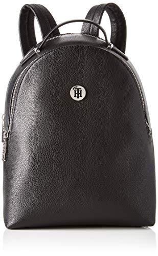 Tommy Hilfiger Damen Th Core Mini Backpack Rucksack, Schwarz (Black)