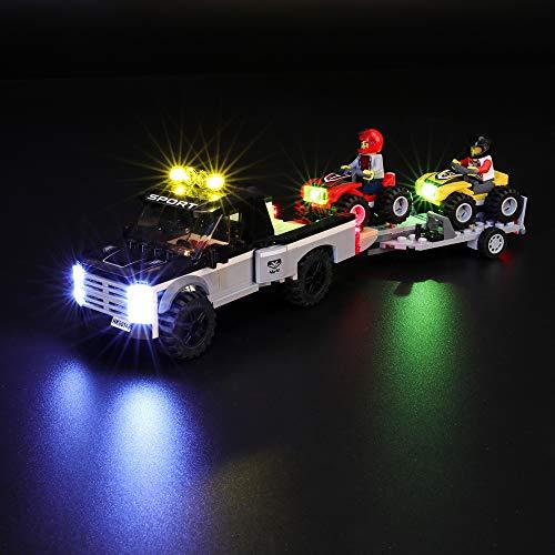 BRIKSMAX Led Beleuchtungsset für Lego City Quad-Rennteam, Kompatibel Mit Lego 60148 Bausteinen Modell - Ohne Lego Set