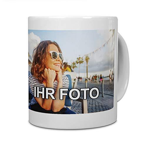 printplanet® - Tasse mit Foto Bedrucken Lassen - Fototasse Personalisieren - Kaffeebecher zum selbst gestalten (Weiß)