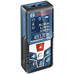 Bosch Professional Laser Measure GLM 50 C (measurement range 0.05 m-50 m, Bluetooth interface for apps (iOS, Android), rotatable colour display, protective case, IP54 dust and splash protection)