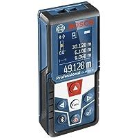 Bosch GLM 50 C - Professional Medidor Láser de distancias (Interfaz Bluetooth para aplicaciones iOS y Android, pantalla a color giratoria, bolsa de protección, protección IP54, alcance 0.05-50 m)