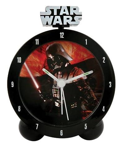 Star Wars - Clone Wars Jugend-Uhr Darth Vader Wecker mit leuchtendem Schwert und Vader Sound 18x7x24 cm -