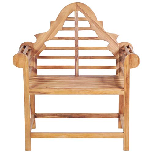 Tidyard Gartenstuhl 89 x 63 x 102 cm Teak Massiv Marlboro Solid Teak Garden Chair Wooden Chair