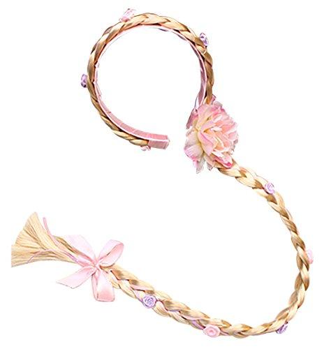 Mädchen haarband (pink) (Mädchen Rapunzel Perücke)