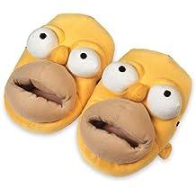 United Labels 803869 - 0- Zapatillas de estar por casa diseño de Homer Simpson Talla 41/43 - Zapatillas Homer 41/44