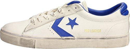 Converse Sneakers Uomo,Pro Leather Vulc 160928C/STAR White/Hyper, Distressed Ox, Colore Bianco Blu, in Pelle, Nuova Collezione Primavera Estate 2018 (Star Leather)