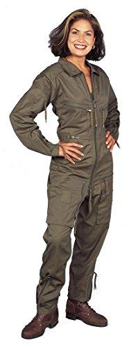 Piloten Flight Suit Continental Flieger Flying Overall RAF Overall Gr. 46, olivgrün (Raf Pilot Kostüm)