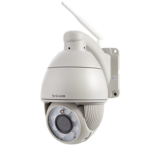 Preisvergleich Produktbild Sricam Wireless IP Kamera H.264 720P 1280 * 720 P2P 5X Optical Zoom Pan / Tilt Outdoor Camera AP004