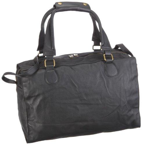 Friis & Company Garbo Hardshaped 1140112, Borsa a tracolla donna Nero (Schwarz/Black)