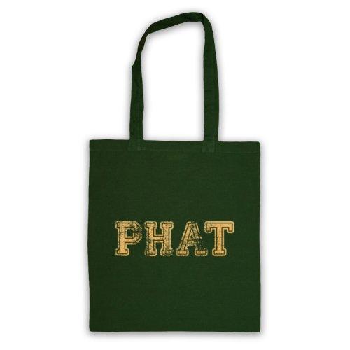 Phat Funny Slogan Tote Bag Verde scuro