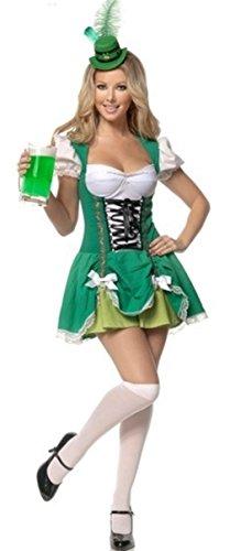 Kostüm Damen Patrick - Aimerfeel Damen irisches bier Magd Kostüm Kostüm Größe 42-44