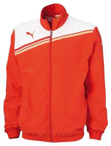 PUMA Jacke&Pullover King Woven Jacket PUMA red-white, Größe Puma:M [Misc.] Cat Woven Jacket