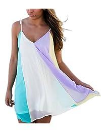 Mini vestido Camisolas para mujer vestido de deslizamiento Camisolas y pareos para mujer Casual hueco playa vestido de deslizamiento playa de encubrir vestido de encubrir Trajes baño