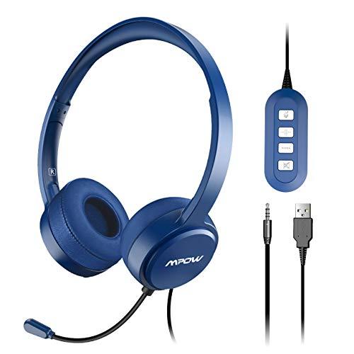 Mpow Auriculares USB PC Teléfono Cerrados Micrófono