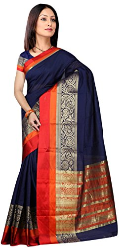 Indian Fashionista women's Chanderi Cotton Saree with Blouse Piece