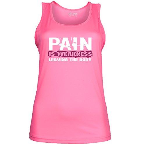 Femmes de «La Douleur Est faiblesse laisser le corps dos nageur pour femme. Couleur 2options. Taille 4options. a. Pink