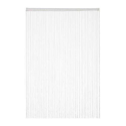 Relaxdays Fadenvorhang weiß, kürzbar, mit Tunneldurchzug, für Türen & Fenster, waschbar, Fadengardine, 145x245 cm, White