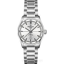 Certina C006.207.11.031.00 - Reloj para mujeres, correa de acero inoxidable color plateado
