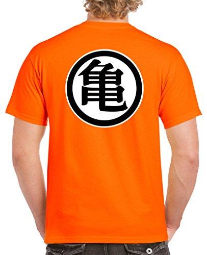 Hündin Tank (SON GOKU TRIKOT | Dragonball | Herren | T-Shirt & Hoodie | Comedy Shirts, Orange / Schwarz-Weiss, Medium)