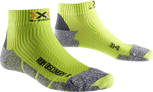 X-Socks Erwachsene Funktionssocken Run Discovery New Socken, Varios colores - Green Lime/Grey Moulinè, 35-38 - Erwachsenen-lime Green