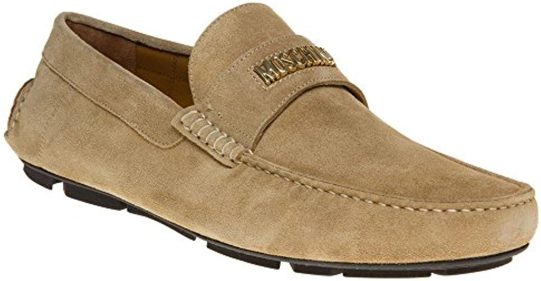 Moschino Logo Driving Herren Schuhe Neutral