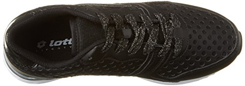 Lotto Sport Record Ix Lth W, Sneakers Basses Femme Noir (Blk/tit Gry)