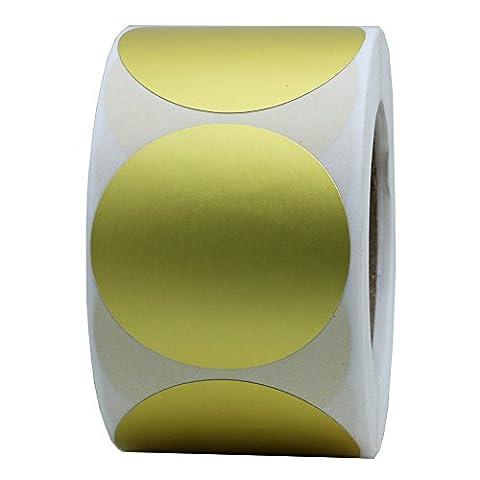 Or hybsk Étiquettes 3,8cm autocollants Pois Code de Couleur Rond étiquette adhésive 400par rouleau 1 Roll doré