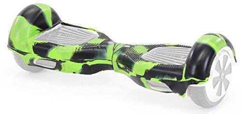 Robway Original Hoverboard Silikon Schutzhülle Gummi-Hülle Gehäuseschutz Cover Skin für Hoverboard Scooter (Größe 6,5 Zoll/Farbe Camouflage Grün Schwarz)