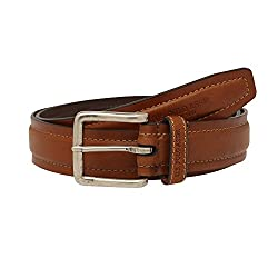 U.s. Polo Assn. Mens Leather Buckle Closure Casual Belt