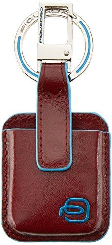 Piquadro Blue Square Portachiavi, Pelle, Rosso, 10 cm