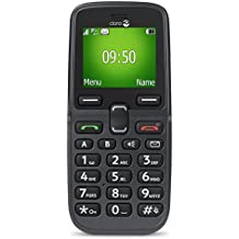"Doro 5030 1.7"" 78g Negro, Grafito Teléfono para personas mayores - Teléfono móvil (Barra, SIM única, 4,32 cm (1.7""), Bluetooth, 800 mAh, Negro, Grafito)"