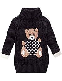 Greenwind Mameluco de la Carta de santaNiño Niños Bebés Niñas Niño Oso Estampado Suéter Punto Ganchillo Plus Peluches
