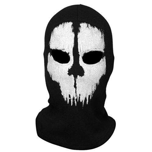 Coxeer® Geister Schädel-Maske Balaclava Hood Ghosts Skull Mask Outdoor Sports Skilaufen Wandern Full Face Mask for Men Maske für Männer (Model 3)