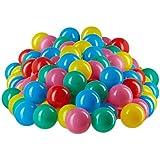 Relaxdays Bolas Piscina Infantil de Colores, Plástico, Multicolor, 5 cm, 200 Unidades