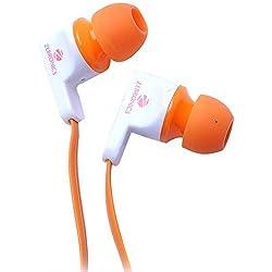Zebronics ZEB-EM950 Earphone with Mic (Orange)