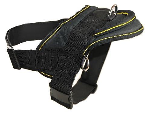 Dean & Tyler DT Dog Harness with Trim, XL, Black/