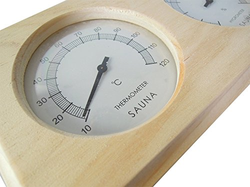 Sauna Thermo und Hygrometer aus Holz - 4