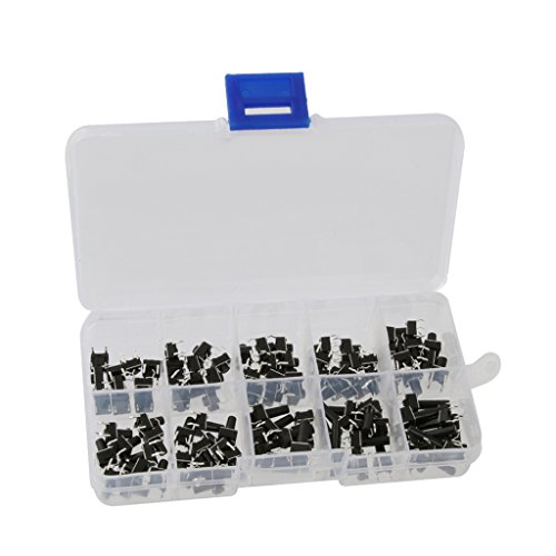 Sharplace 100Pcs 6x6x6 mm Miniatur Micro Momentary Tactile Tact Touch-Push Button Switch-Qualität Schalter SPST Miniatur/Mini/Micro/Kleine PC