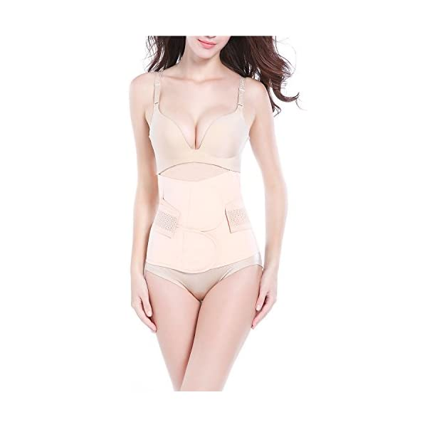 AMILE Postpartum Support Recovery Belly Belt with High Elastic and Breathable Mesh Fabric for Women and Maternity Recovering from Birth