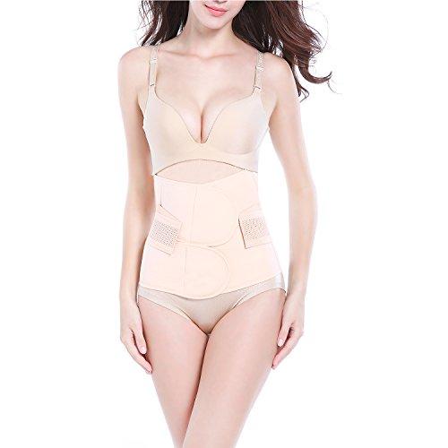 AMILE Postpartum Support Breathable Elastic Postpartum Recovery Belly Waist Pelvis Support Girdle Belt Body Shaper Postnatal Shapewear (Large)