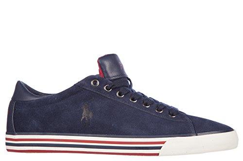Polo Ralph Lauren chaussures baskets sneakers homme en daim blu